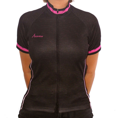 Contrast Pink Cycling Jersey