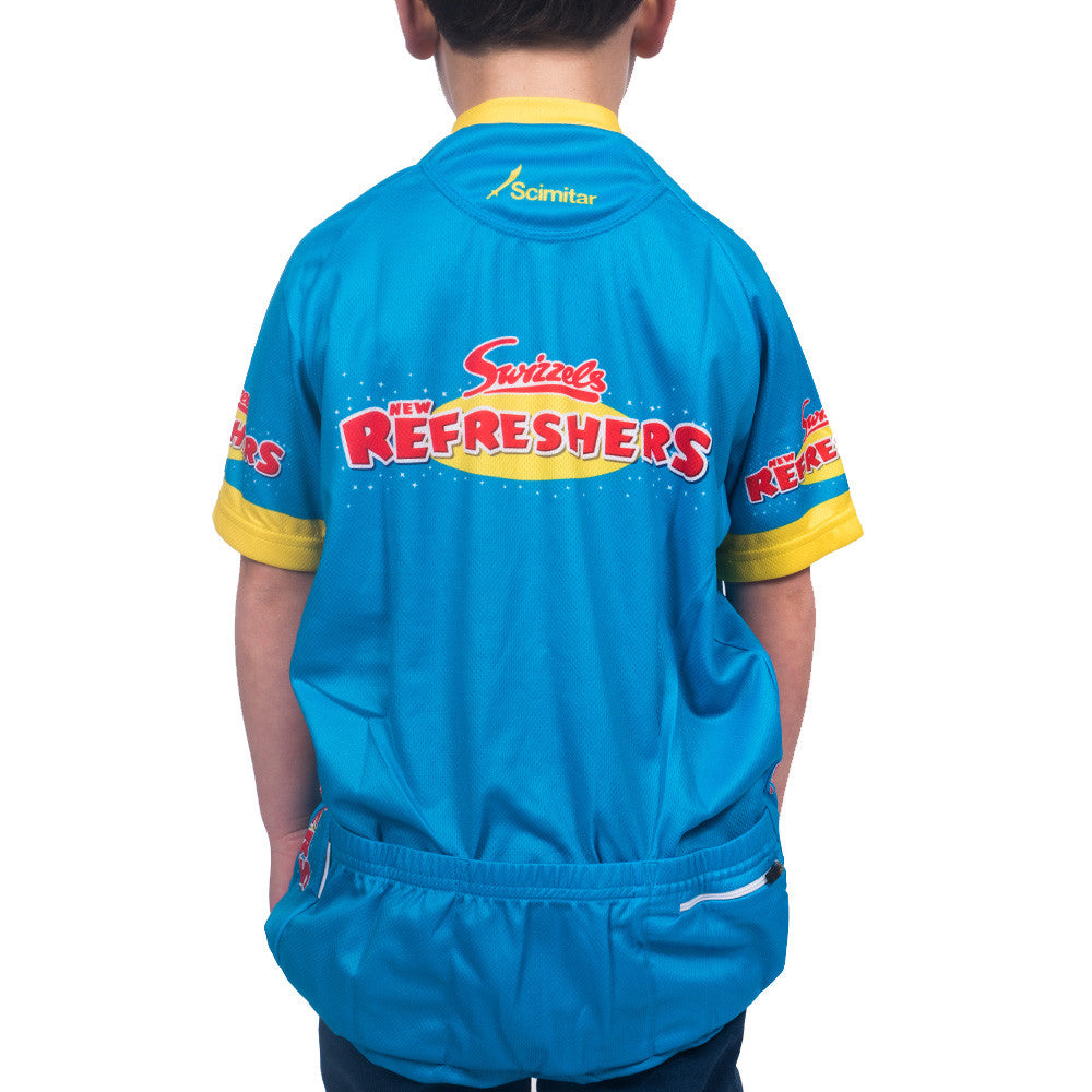 Refreshers Blue Kids Cycling Jersey