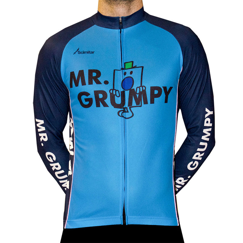 Mr Grumpy Long Sleeved Men's Cycling Jersey