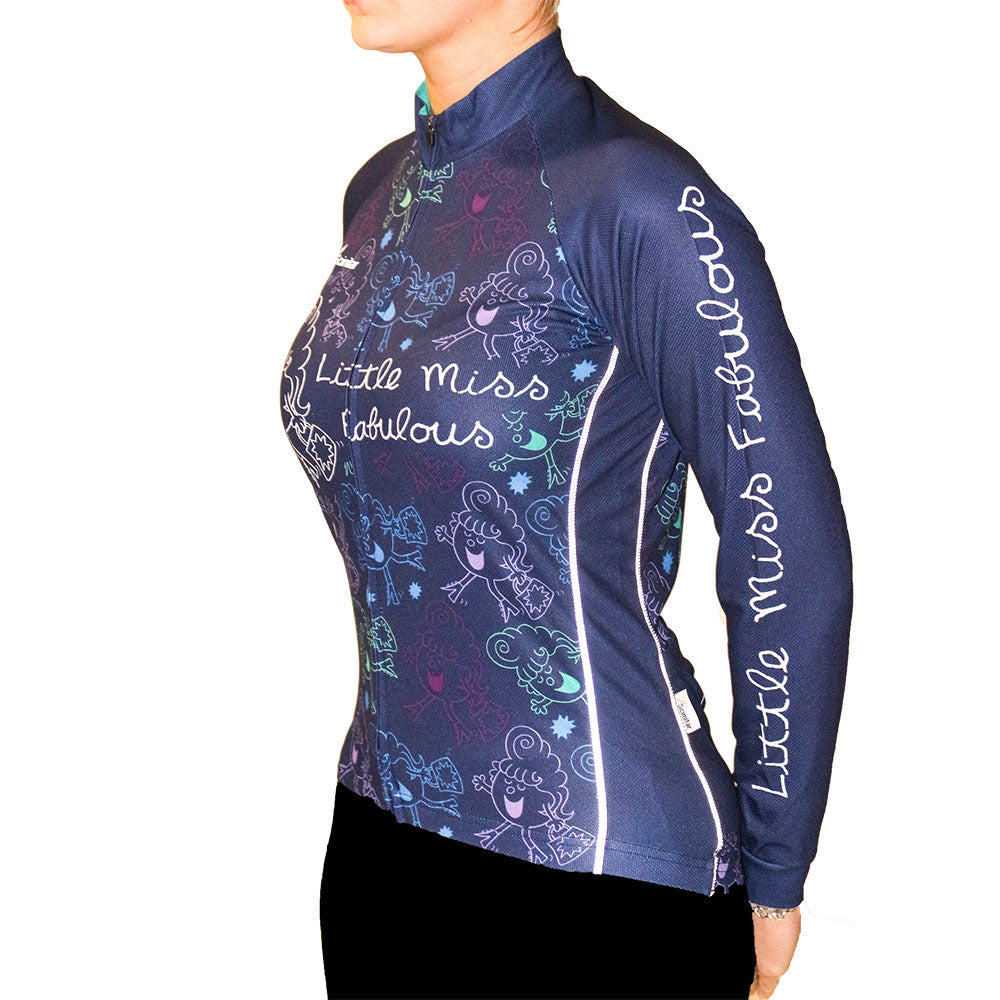 Little Miss Fabulous Long Sleeved Women's Cycling Jersey
