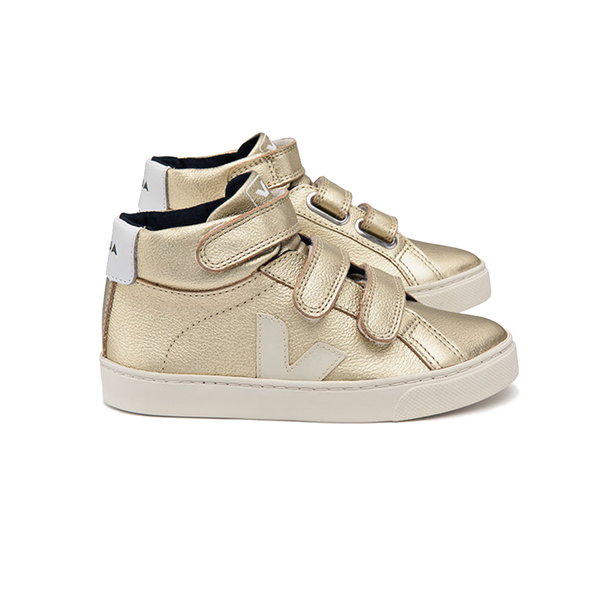 veja kids - esplar mid leather gold pierre