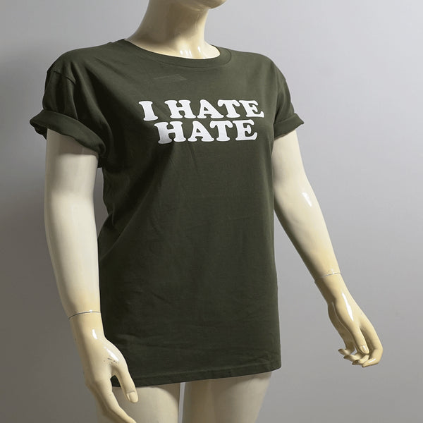 t-shirt - i hate hate - grün