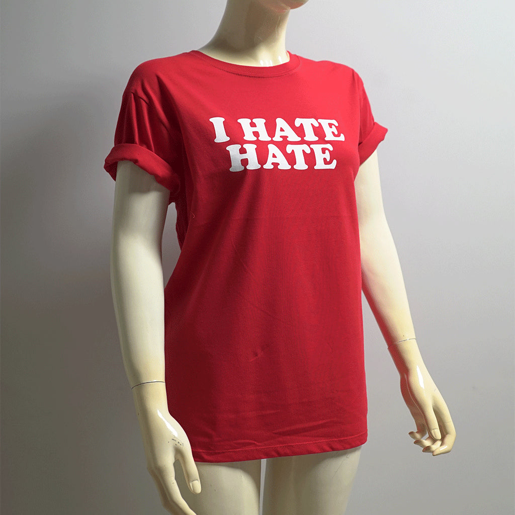 t-shirt - i hate hate - rot