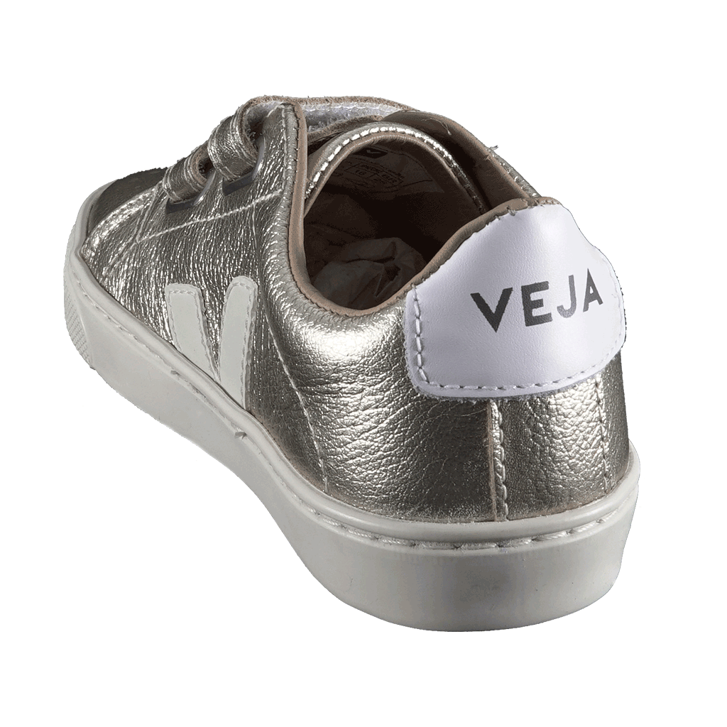 veja junior - esplar small velcro leather lining leather gold pierre - sneaker