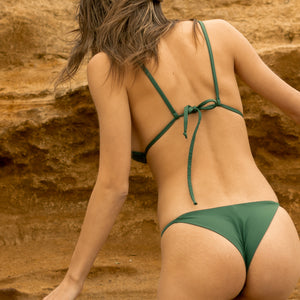 Khaki Green String Bottom