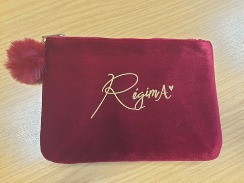 RegimA Red/Burgundy Make-Up Bag