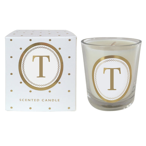 "Alphabet Candle - ""T"""