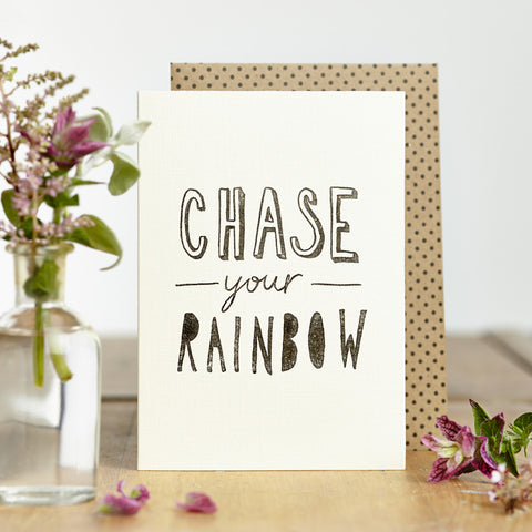 Chase Your Rainbow Card