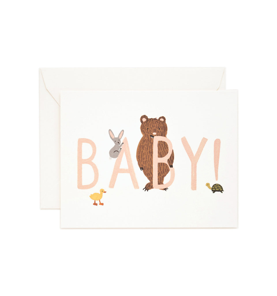 New Baby Card - Peach