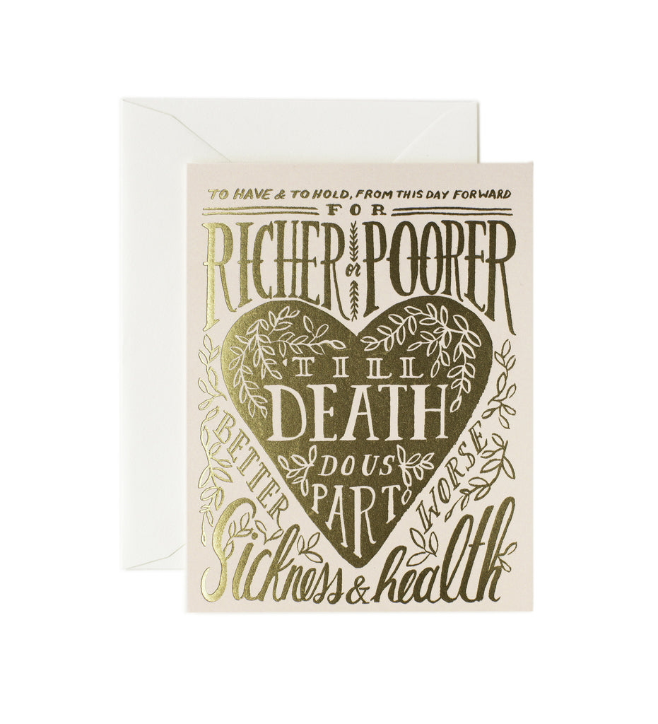 Til Death Do Us Part Card