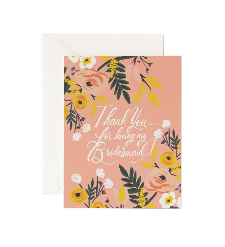Thank You Bridesmaid Card