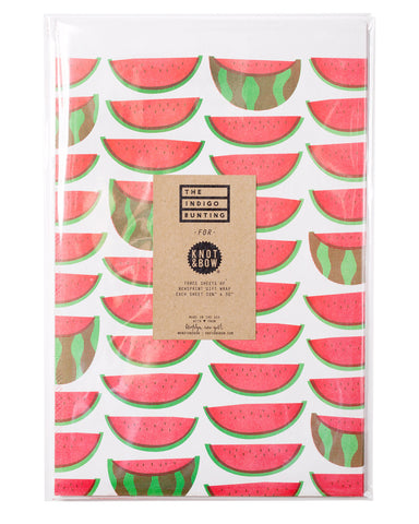 Watermelons Newsprint Gift Wrap