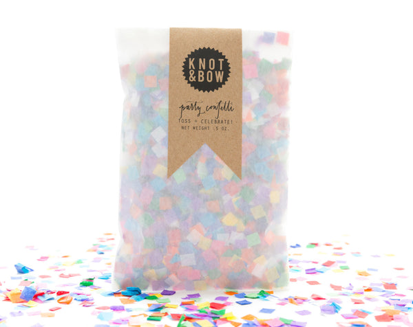 Tiny Rainbow Confetti Bag
