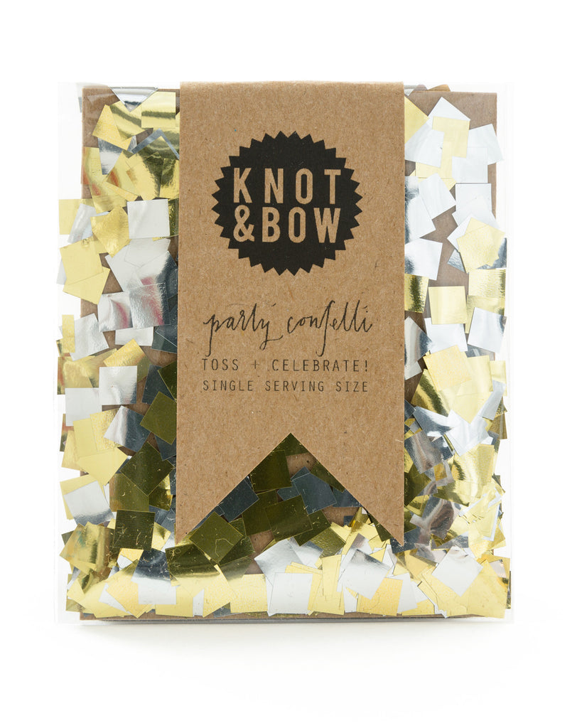 Gold & Silver Single Serving Confetti