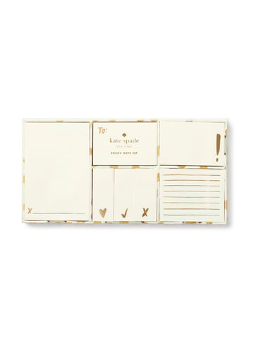 Kate Spade Sticky Note Set - Flamingo Dot