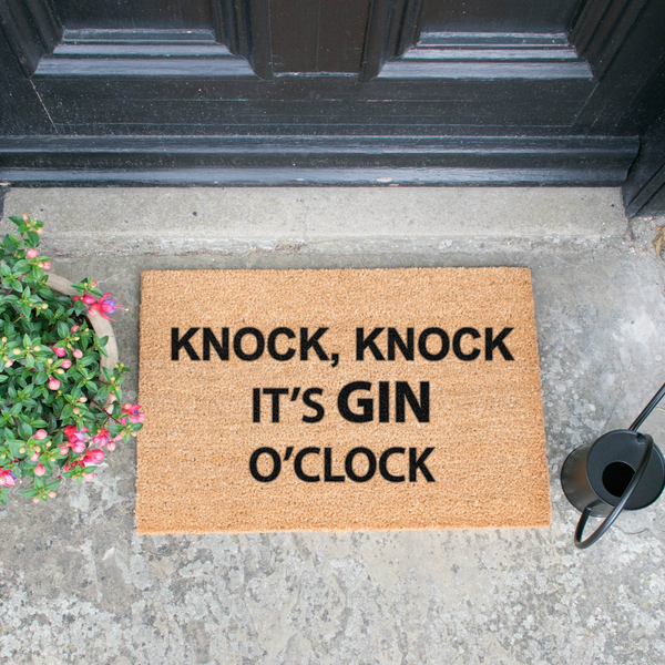 Knock Knock it's Gin O'Clock Doormat