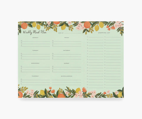 Weekly Meal Planner - Citrus Floral