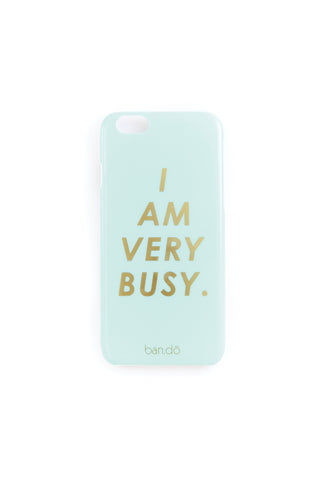 iPhone 6/6S/7 Case - I Am Very Busy Ice Blue