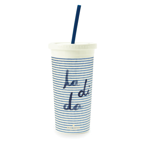 Kate Spade Insulated Tumbler - Seersucker la di da
