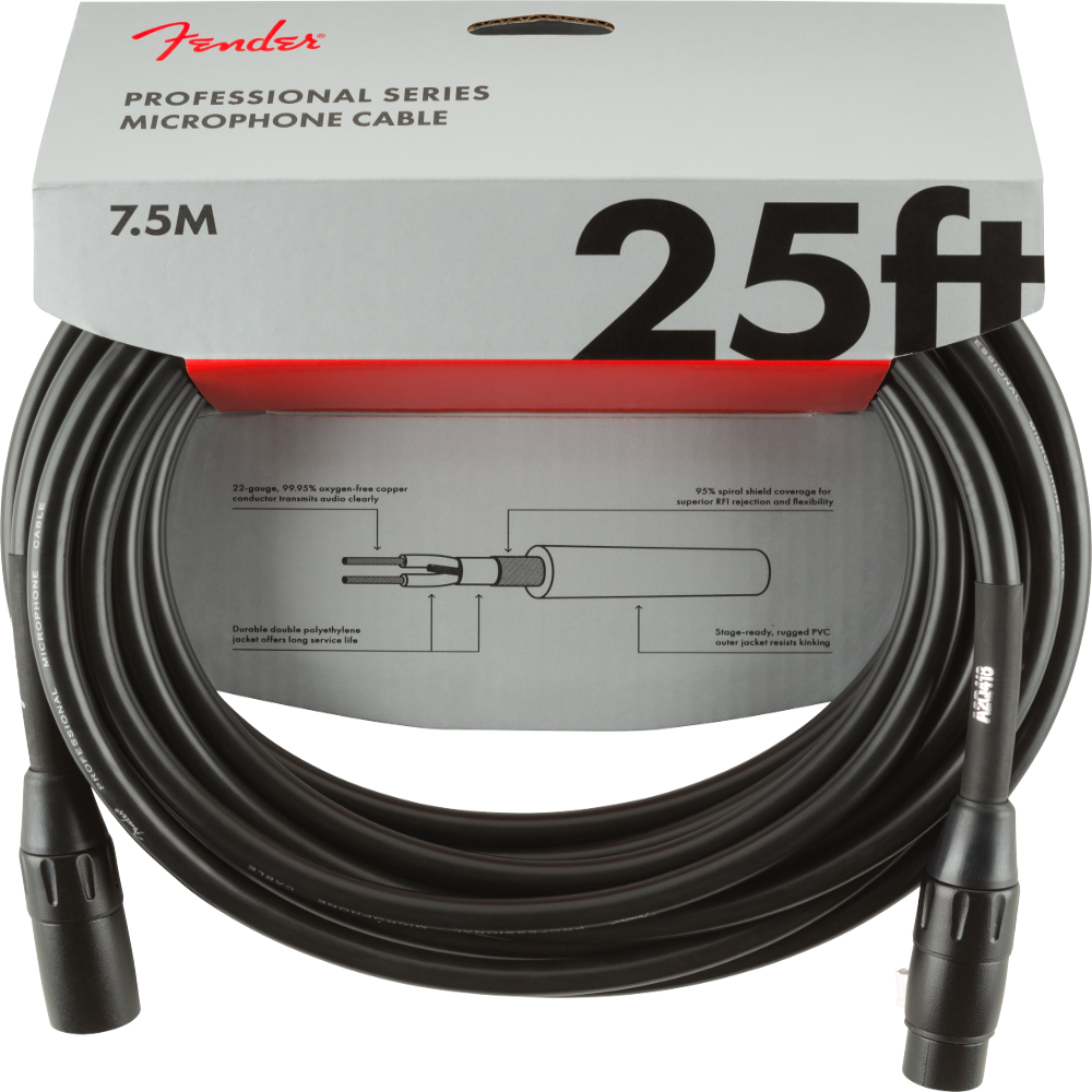 Fender 25' Professional Series XLR Cable