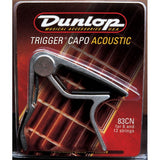 Dunlop 83CN Acoustic Trigger Capo with FREE Set of Dunlop Guitar Strings