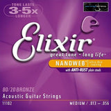 Elixir Bronze Medium Nanoweb Acoustic Guitar Strings