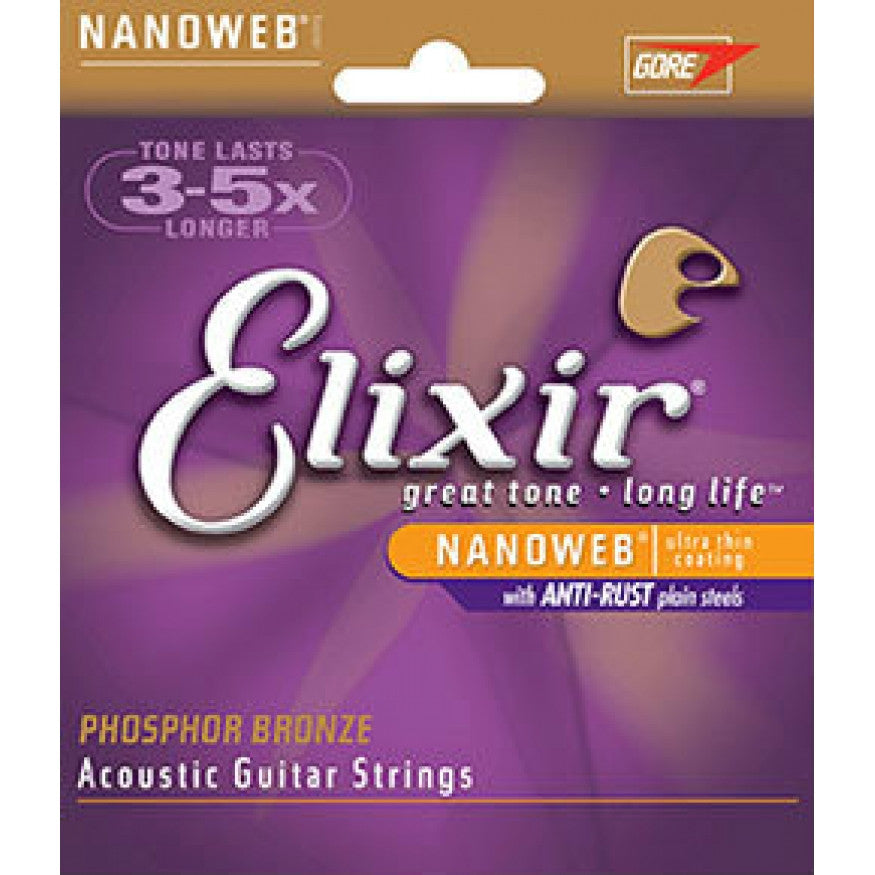 Elixir Phospher Bronze Custom Light Acoustic Guitar Strings
