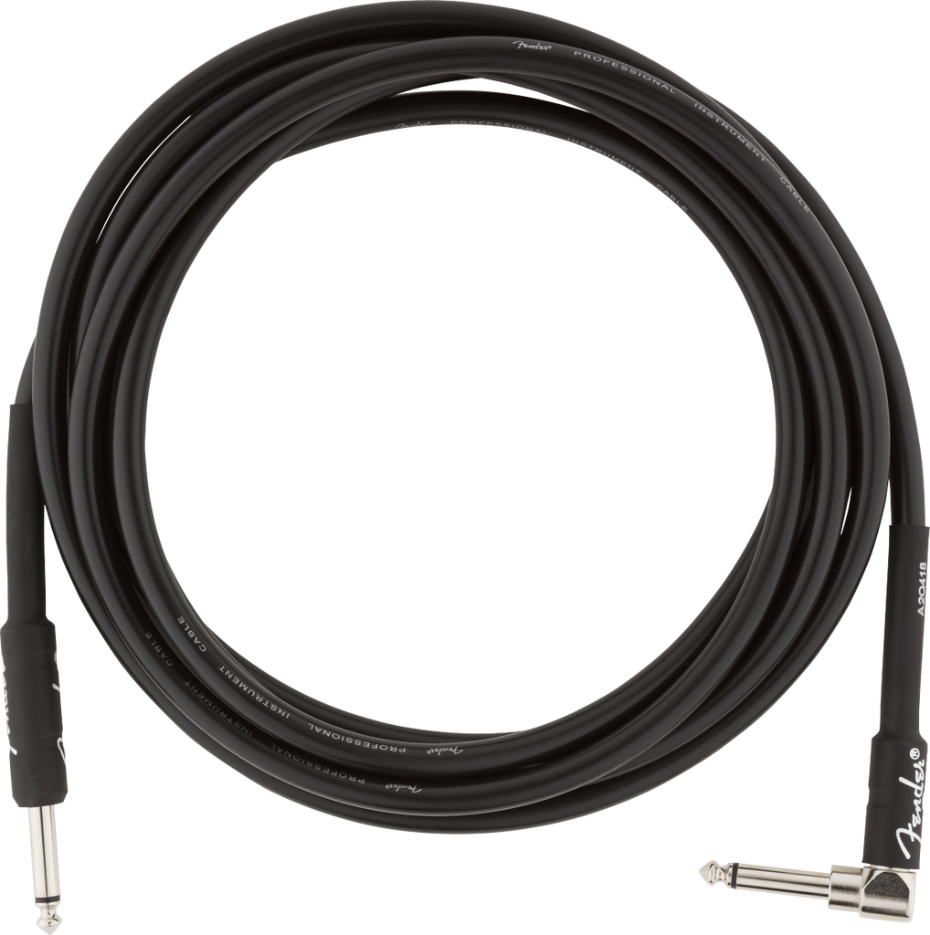 Fender 10ft Professional Series Instrument Cable Straight/Angled