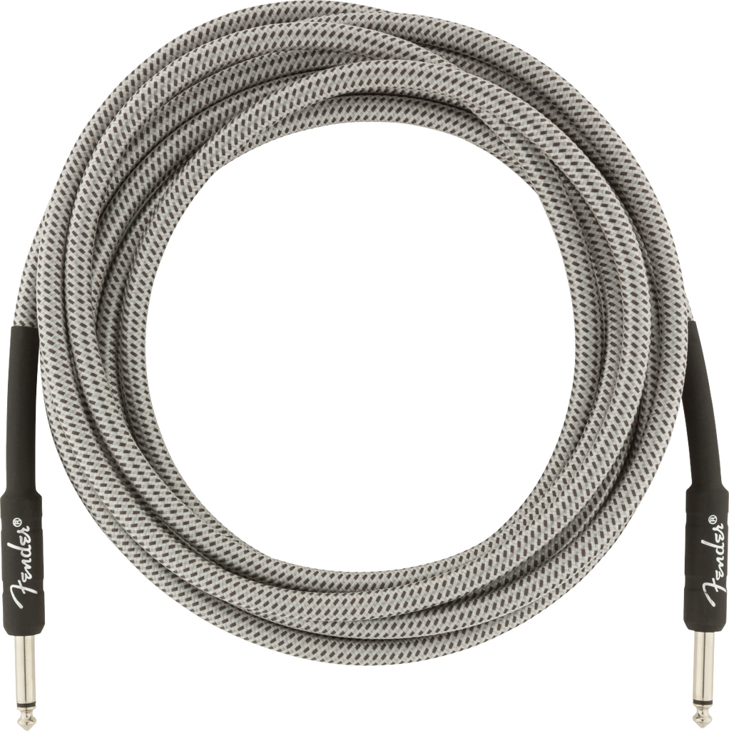 Fender 15ft Professional Series Instrument Cable - White Tweed