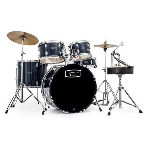 "Mapex Tornado 22"" Fusion Drum Kit in Royal Blue"