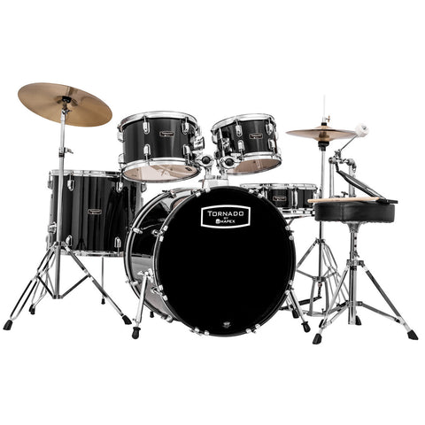 "Mapex Tornado 22"" Fusion Drum Kit in Black"