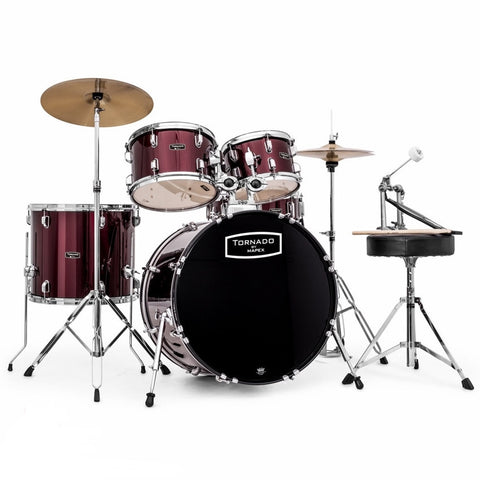 "Mapex Tornado 22"" Fusion Drum Kit in Wine Red"