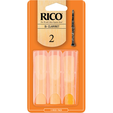 Rico Bb Clarinet Reeds 3 pack