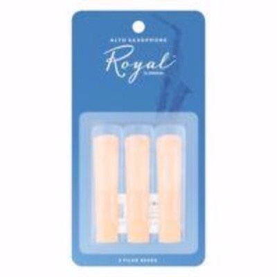 Royal By D'Addario 2.5 Alto Saxophone Reeds - Pack of 3