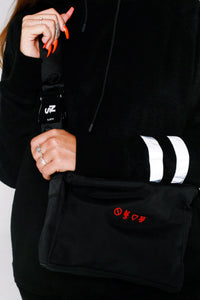 Nylon Oxford Embroidered logo Shoulder Bag/Belt - No Stress Wear