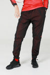 Nylon Taffeta Red Burgundy Track Pant - No Stress Wear