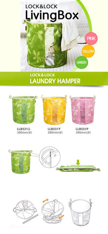 Lock & Lock Laundry Bag 40L Green - LLB531G