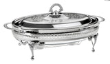 Queen Anne Silver Plated Oval Serving Dish Large Single with warmers (Lid + Oven Dish) - 0-6284