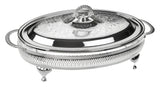 Queen Anne Silver Plated Oval Serving Dish Large (Lid + Oven Dish) - 0-6295