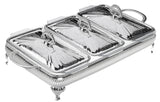 Queen Anne Silver Plated Serving Dish Triple ( 3 Lid +  3 Oven Dish)- 0-6303