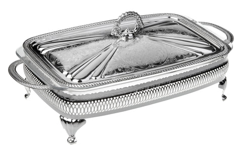 Queen Anne Silver Plated Rectangle Serving Dish Single ( Lid + Oven Dish) - 0-6305