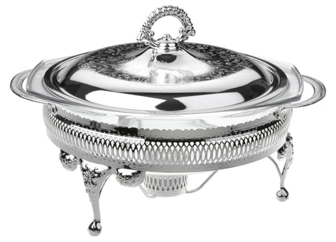 Queen Anne Silver Plated Round Serving Dish Single with warmers  ( Lid + Oven Dish) - 0-6311