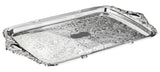 Queen Anne Silver Plated Rectangle Tray with Integrated handles (49 x 28 cm) - 0-6455
