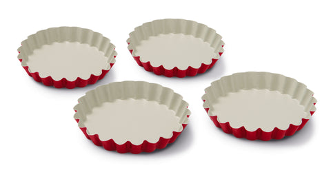 Guardini Keramia Set of 4 Pie Tins Red - 00362R