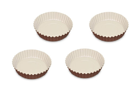 Guardini Le Chocoforme Set of 4 Pie Tins 12 cm Brown - 00714H