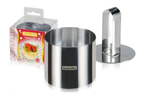 Guardini Round Food Ring 7 cm with pusher Stainless Steel - 15663
