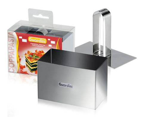 Guardini Rectangle Food Ring 9x5cm with pusher Stainless Steel - 15665