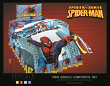 Percale 100% Egyptian Cotton Quilt 6 pieces Set (2 Quilts (180x240cm)+2 Pillow Covers+2 Cushions) Spiderman-2126S