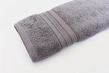 Percale 100% Egyptian Cotton Towel (100 x 180 cm) Grey- 2129GR