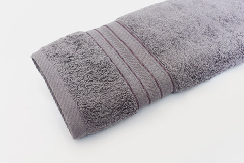 Percale 100% Egyptian Cotton Towel (70 x 140 cm) Grey- 2128GR